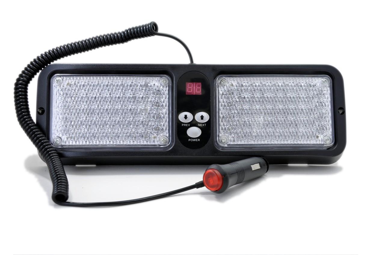 visor led emergency strobe lights red blue. Black Bedroom Furniture Sets. Home Design Ideas