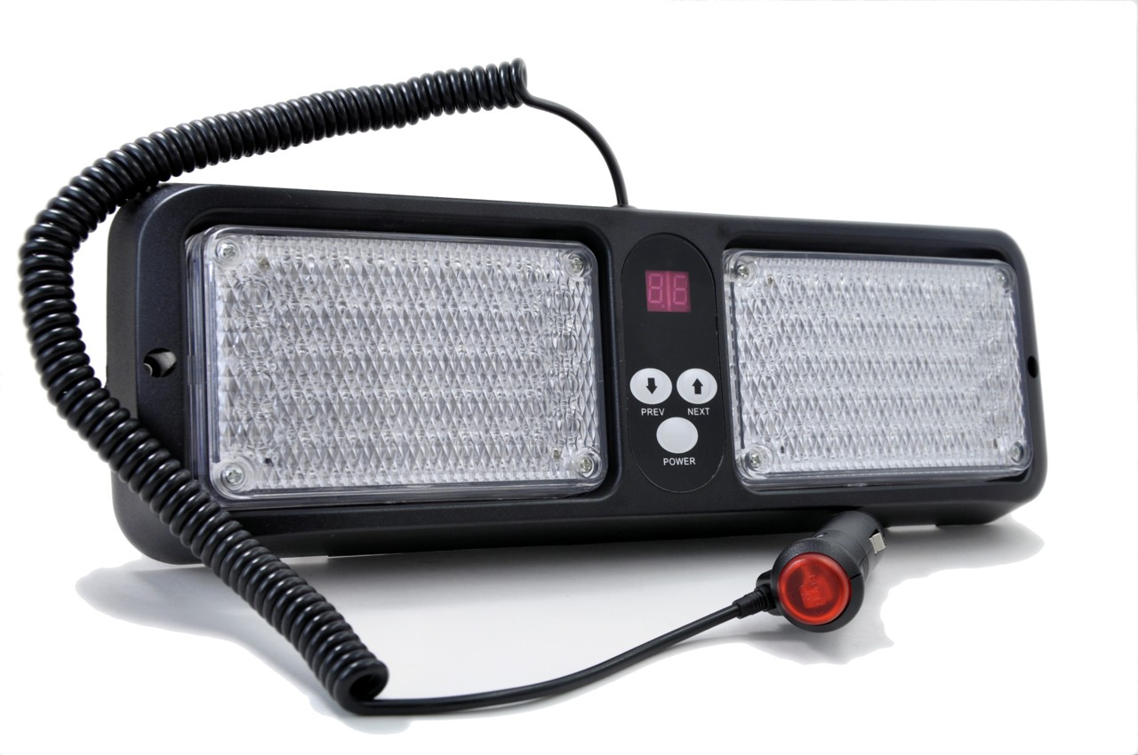 Red / White LED Visor Strobe Light