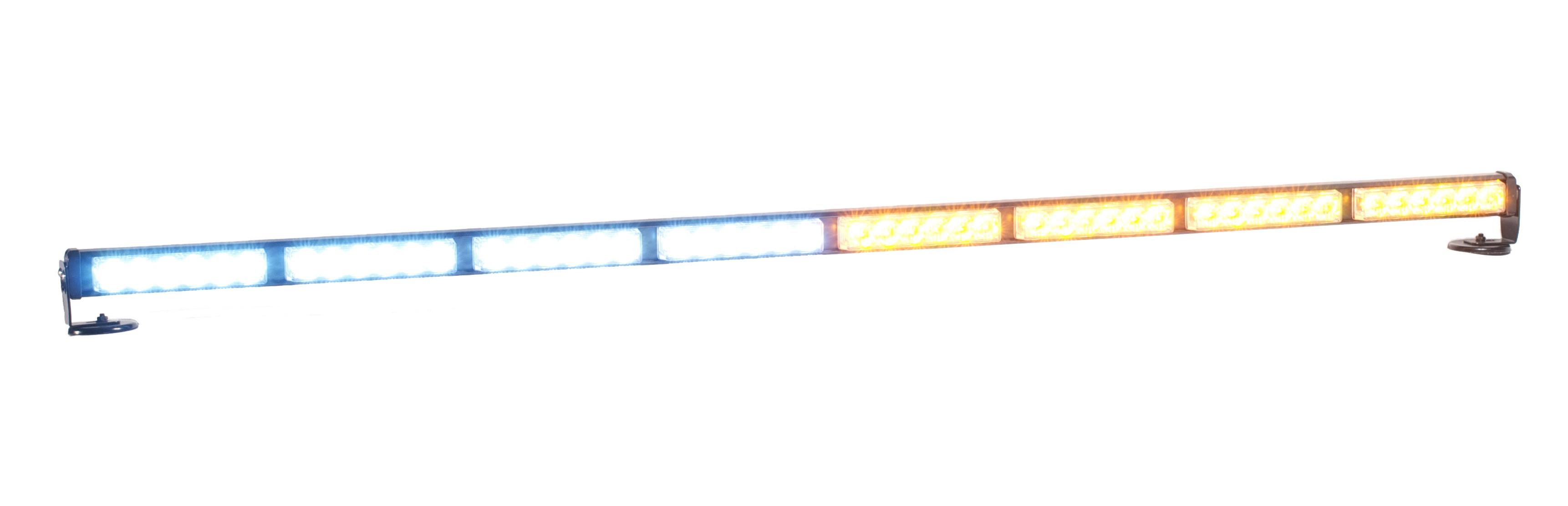 """P8X6 50"""" LED Traffic Advisor Police Interior Light Bar Amber / White"""