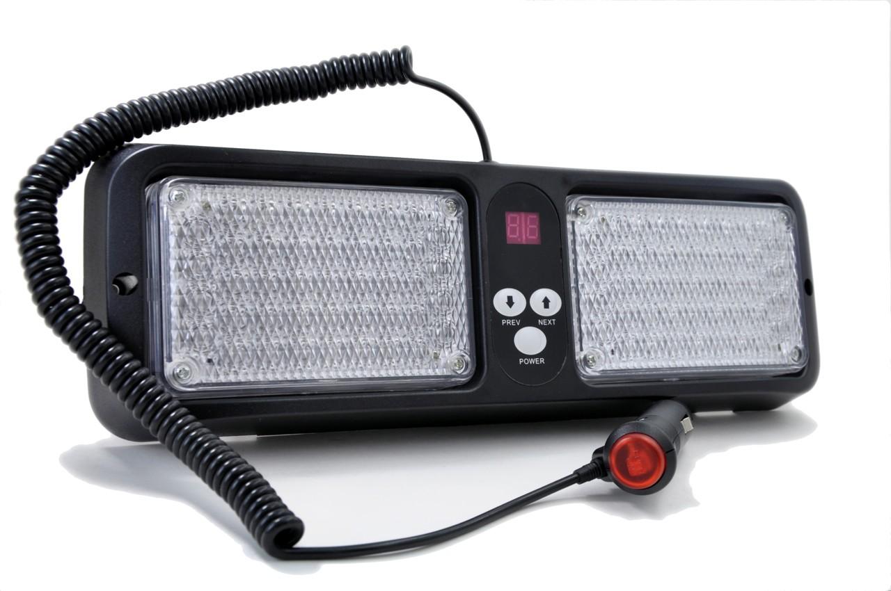 Red / White LED Visor Strobe Light